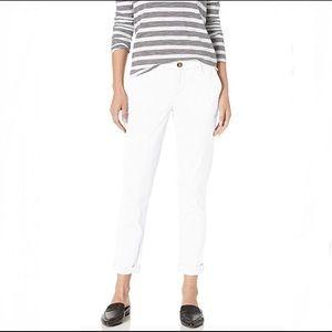 TOMMY HILFIGER  White Slim Chino Pant, Size 8
